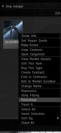 Assemble active leave and repackage total newbs guide to eve online blueprints are an exception once they are assembled by building from them or researching them they can not be repackaged since all items have to be malvernweather Gallery